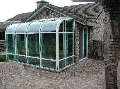 Charming Curved Eave Sunroom