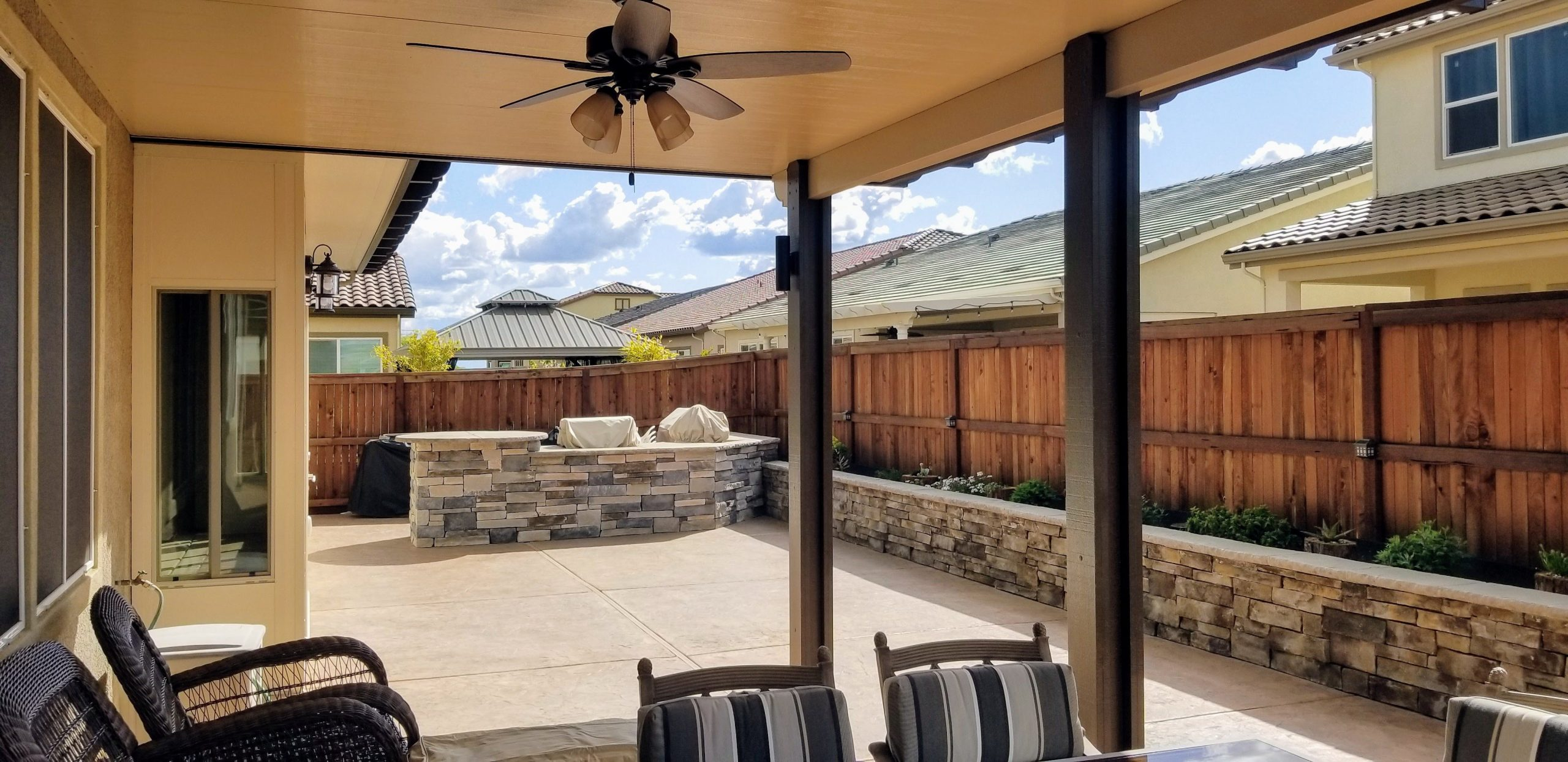 Patio Cover with Fan